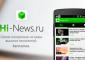 Приложение Hi-News.ru появилось в Google Play